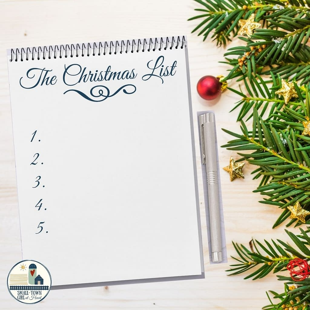 The Christmas List, Small-Town Girl at Heart
